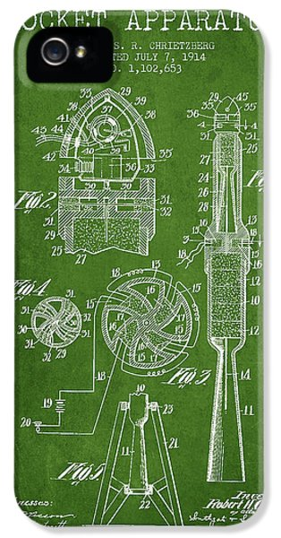 Rockets iPhone 5 Cases - Rocket Apparatus Patent from 1914 iPhone 5 Case by Aged Pixel