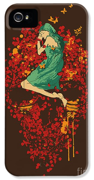 Horror iPhone 5 Cases - Roses are red but why you look so blue iPhone 5 Case by Budi Satria Kwan