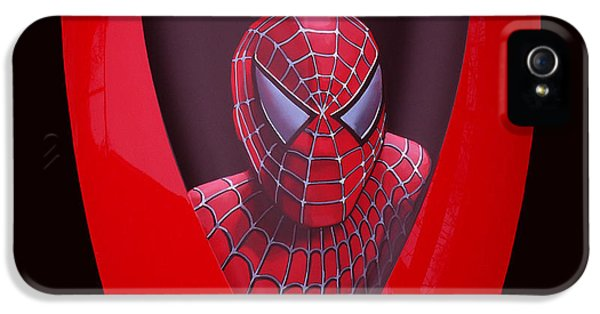 Spider iPhone 5 Cases - Spider-Man on Spyder iPhone 5 Case by Paul  Meijering