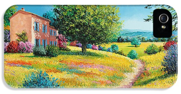 Jeans iPhone 5 Cases - Summer house iPhone 5 Case by Jean-Marc Janiaczyk