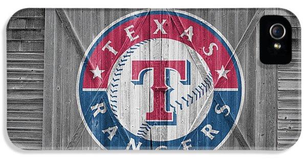 Glove iPhone 5 Cases - Texas Rangers iPhone 5 Case by Joe Hamilton