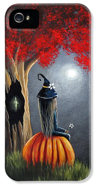 Witch iPhone 5 Cases - Original Witch Art - The Midnight Hour iPhone 5 Case by Shawna Erback