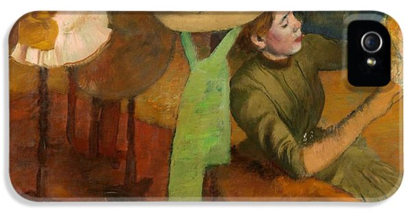 Millinery iPhone 5 Cases - The Millinery Shop iPhone 5 Case by Edgar Degas