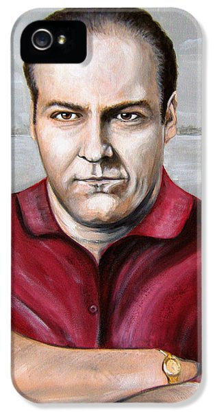 Tony Soprano iPhone 5 Cases - Tony Soprano iPhone 5 Case by Patrice Torrillo