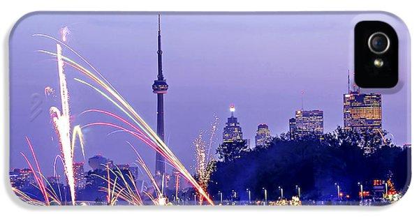 Toronto iPhone 5 Cases - Toronto fireworks iPhone 5 Case by Elena Elisseeva