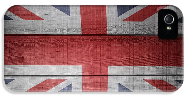 Board iPhone 5 Cases - Union Jack flag  iPhone 5 Case by Les Cunliffe