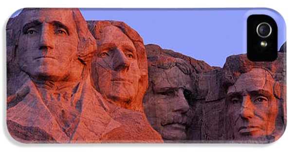 Memorial Day iPhone 5 Cases - Usa, South Dakota, Mount Rushmore iPhone 5 Case by Panoramic Images