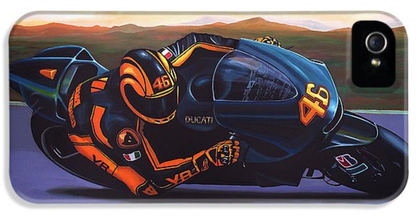 No iPhone 5 Cases - Valentino Rossi on Ducati iPhone 5 Case by Paul Meijering