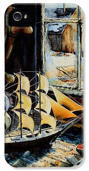 Shanty iPhone 5 Cases - Warm Winter Pastime iPhone 5 Case by Hanne Lore Koehler
