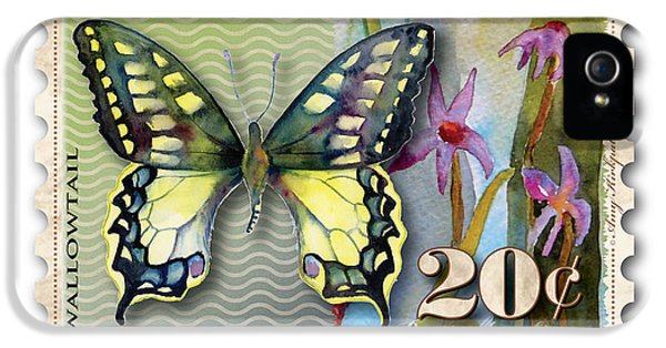 Swallowtail iPhone 5 Cases - 20 Cent Butterfly Stamp iPhone 5 Case by Amy Kirkpatrick