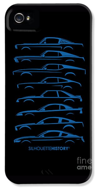 Ford Mustang Silhouettehistory IPhone 5 / 5s Case by Gabor Vida