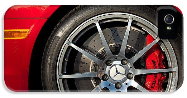 2012 iPhone 5 Cases - 2012 Mercedes-Benz SLS AMG Gullwing Wheel iPhone 5 Case by Jill Reger