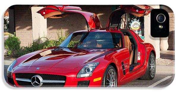 2012 iPhone 5 Cases - 2012 Mercedes-Benz SLS Gullwing iPhone 5 Case by Jill Reger