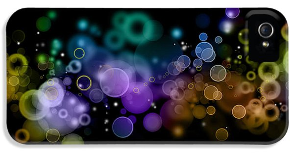 Color Effect iPhone 5 Cases - Abstract background  iPhone 5 Case by Les Cunliffe