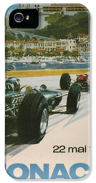 Harbour iPhone 5 Cases - 24th Monaco Grand Prix 1966 iPhone 5 Case by Nomad Art And  Design