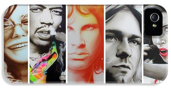 Jimi Hendrix, Kurt Cobain, And Amy Winehouse Collage - '27 Eternal' IPhone 5 / 5s Case by Christian Chapman Art