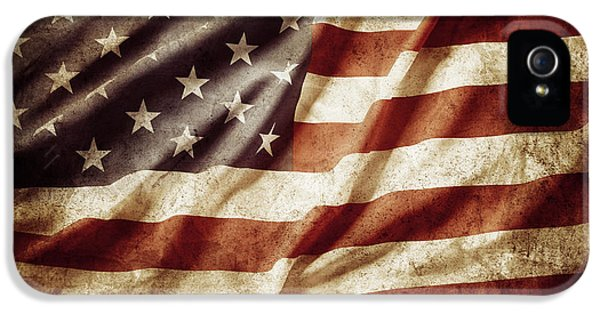 Dirty iPhone 5 Cases - American flag iPhone 5 Case by Les Cunliffe