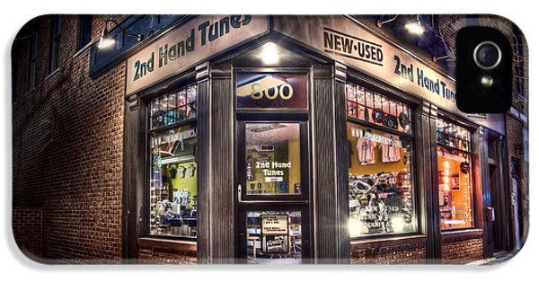Store Front iPhone 5 Cases - 2nd Hand Tunes iPhone 5 Case by Scott Norris