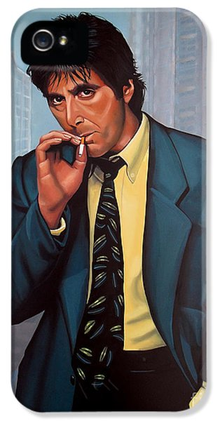 Moviestar iPhone 5 Cases - Al Pacino  iPhone 5 Case by Paul  Meijering
