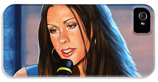 Festival iPhone 5 Cases - Alanis Morissette  iPhone 5 Case by Paul Meijering