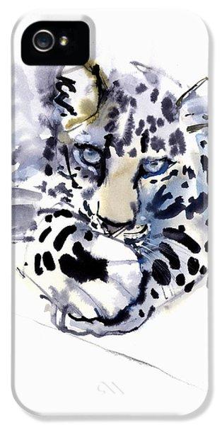 Arabian iPhone 5 Cases - Arabian Leopard iPhone 5 Case by Mark Adlington