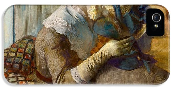 Milliner iPhone 5 Cases - At the Milliners iPhone 5 Case by Edgar Degas