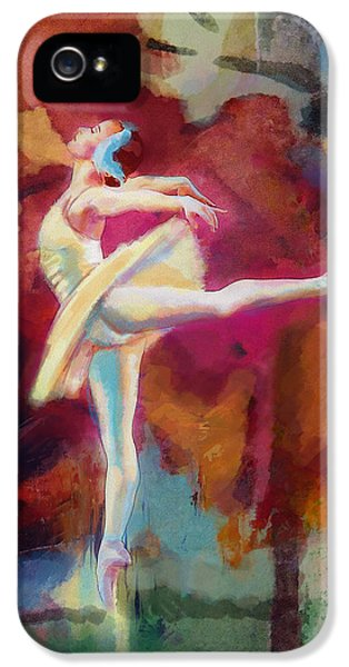 Dance iPhone 5 Cases - Ballet Dancer iPhone 5 Case by Corporate Art Task Force