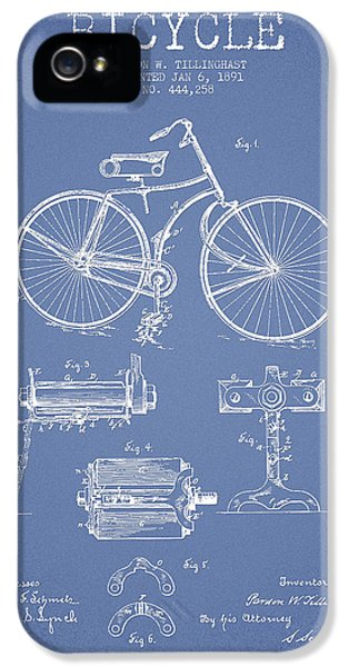 Bicycle iPhone 5 Cases - Bicycle Patent Drawing from 1891 iPhone 5 Case by Aged Pixel