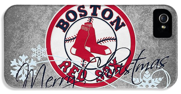 Glove iPhone 5 Cases - Boston Red Sox iPhone 5 Case by Joe Hamilton