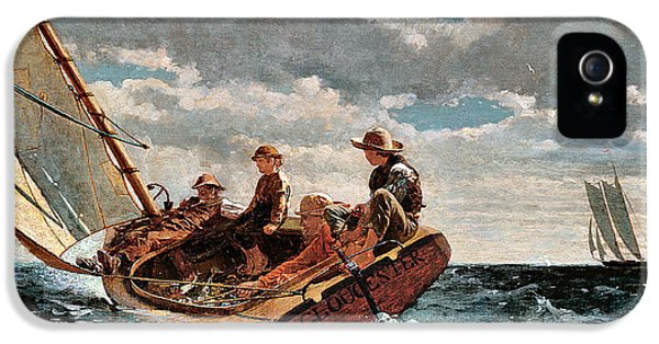 Winslow Homer iPhone 5 Cases - Breezing Up iPhone 5 Case by Winslow Homer