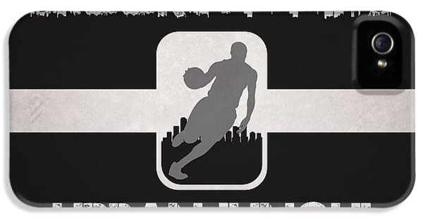Net iPhone 5 Cases - Brooklyn Nets iPhone 5 Case by Joe Hamilton