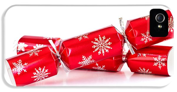 Wrapped iPhone 5 Cases - Christmas crackers iPhone 5 Case by Elena Elisseeva