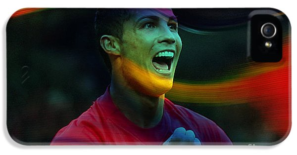 Cristiano Ronaldo IPhone 5 / 5s Case by Marvin Blaine
