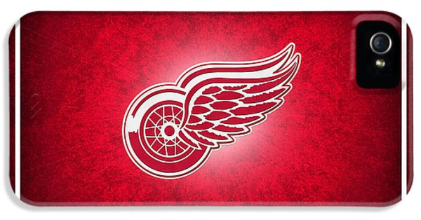 Stick iPhone 5 Cases - Detroit Red Wings iPhone 5 Case by Joe Hamilton