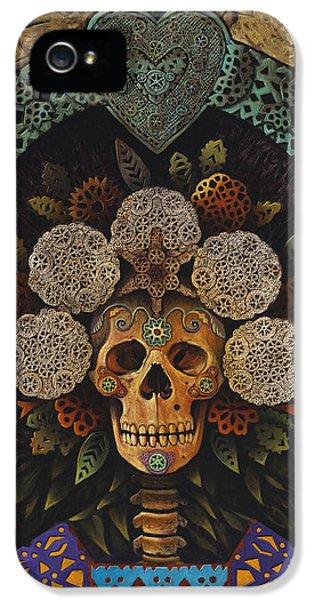 Mexican iPhone 5 Cases - Dia De Muertos Madonna iPhone 5 Case by Ricardo Chavez-Mendez