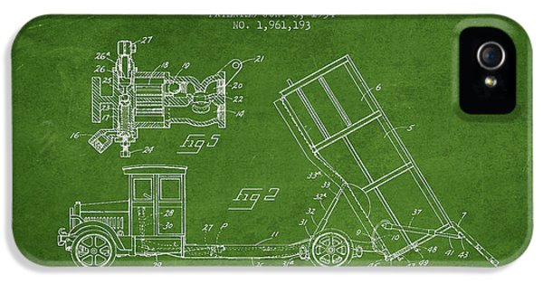 Dump Truck Patent Drawing From 1934 IPhone 5 / 5s Case by Aged Pixel