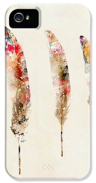 3 Feathers IPhone 5 / 5s Case by Bri B