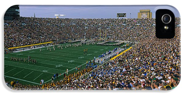 High Angle View Of A Football Stadium IPhone 5 / 5s Case by Panoramic Images