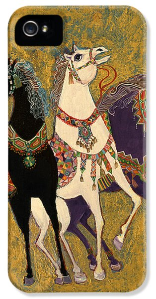 Three iPhone 5 Cases - 3 Horses iPhone 5 Case by Laila Shawa