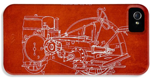Tractor iPhone 5 Cases - John Deer Tractor Patent drawing from 1933 iPhone 5 Case by Aged Pixel