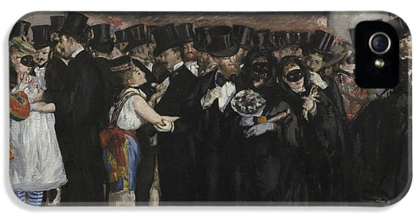 Suit iPhone 5 Cases - Masked Ball at the Opera iPhone 5 Case by Edouard Manet