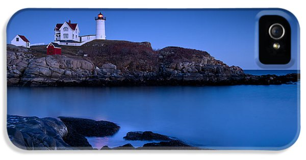 Lighthouse iPhone 5 Cases - Nubble Lighthouse iPhone 5 Case by Brian Jannsen