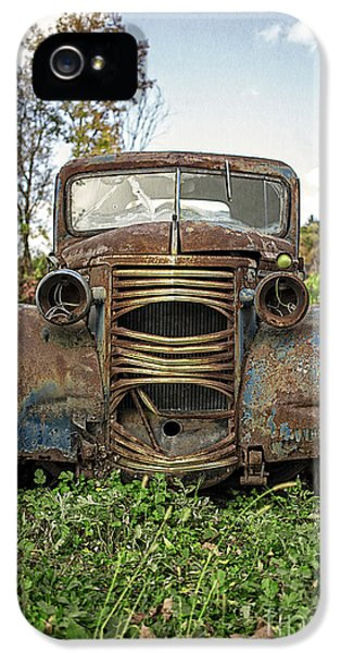 Restoration iPhone 5 Cases - Old Junker Car iPhone 5 Case by Edward Fielding
