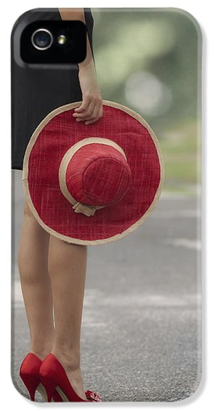 Hat iPhone 5 Cases - Red Sun Hat iPhone 5 Case by Joana Kruse