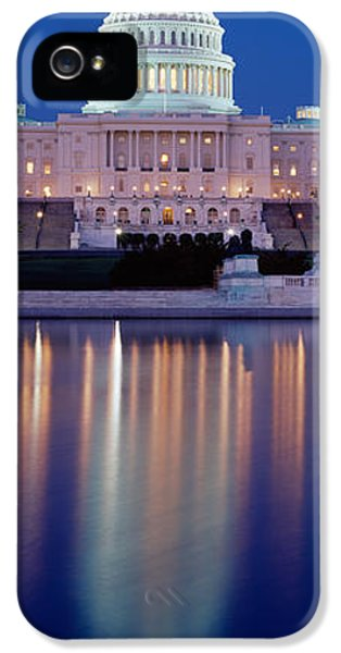 Senate iPhone 5 Cases - Reflection Of A Government Building iPhone 5 Case by Panoramic Images