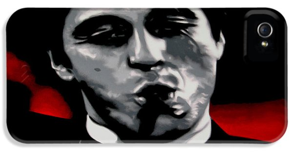 Oliver Stone iPhone 5 Cases - Scarface 2013 iPhone 5 Case by Luis Ludzska