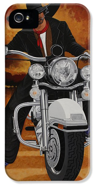 American Western iPhone 5 Cases - Steel Pony iPhone 5 Case by Lance Headlee