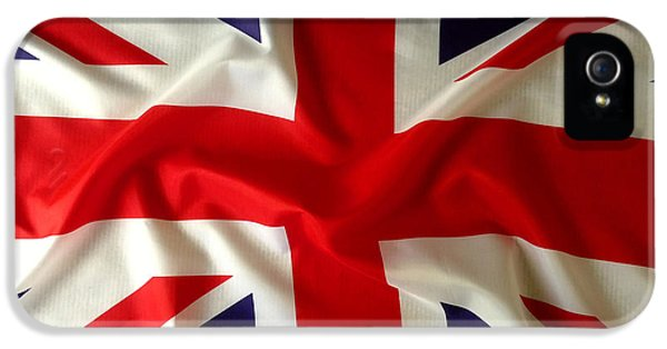 British iPhone 5 Cases - Union Jack iPhone 5 Case by Les Cunliffe