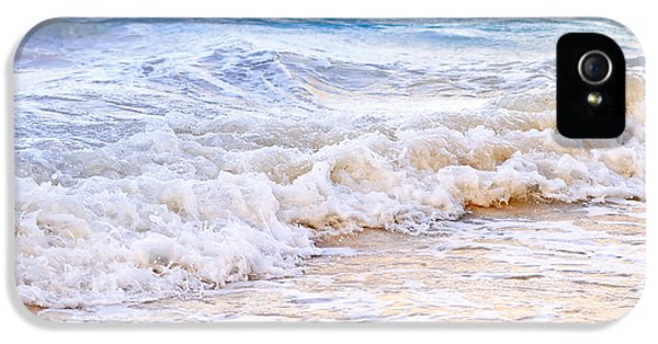 Tourism iPhone 5 Cases - Waves breaking on tropical shore iPhone 5 Case by Elena Elisseeva