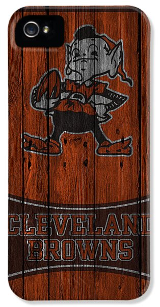 Brown iPhone 5 Cases - Cleveland Browns iPhone 5 Case by Joe Hamilton